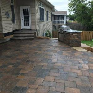 Hessit Works Inc. - Tumbled Pavers - Roman Tumb application 11