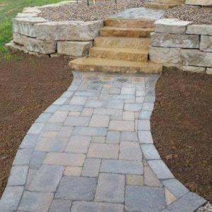 Hessit Works Inc. - Tumbled Pavers - Roman Tumb application 7